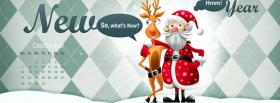 free santa claus with reindeer facebook cover