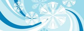 free baby blue winter christmas facebook cover