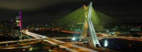 free brigde in sao paulo city facebook cover