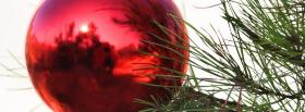 red ornament outside facebook cover