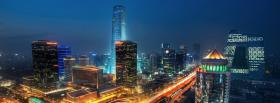 free beijing city night facebook cover
