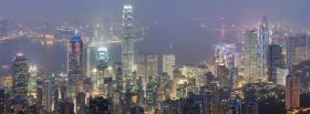 city hong kong skyline facebook cover