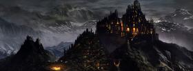 dark medieval city facebook cover