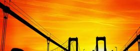 free bridge and sunset city facebook cover
