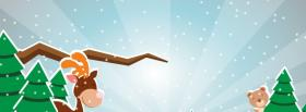 free happy reindeer and teddy facebook cover