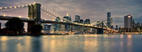 free bridge in brooklyn city facebook cover