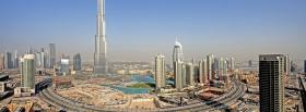 free burj khalifa dubai city facebook cover