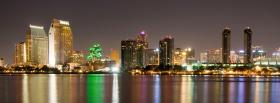 san diego city night facebook cover