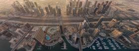 upper view dubai city facebook cover