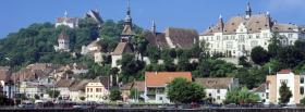 free sighisoara romania city facebook cover