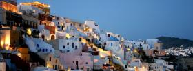 free greece santorini city facebook cover