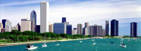 lake michigan chicago city facebook cover
