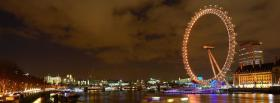 free london eye night city facebook cover