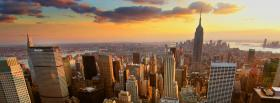 new york aerial view facebook cover