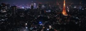 free night in tokyo city facebook cover