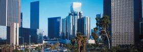 los angeles skyline city facebook cover