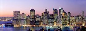 free new york city sunset facebook cover