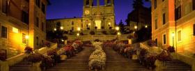 spanish steps rome city facebook cover