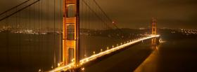 free golden gate bridge night facebook cover