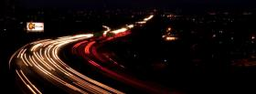 highway at night facebook cover