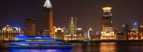 night in shangai city facebook cover