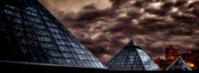 glass pyramids city facebook cover