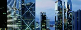 free hong kong city buildings facebook cover