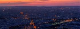 paris city france facebook cover