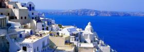 free santorini city facebook cover