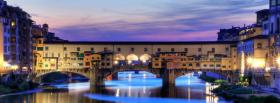 free ponte vecchio city facebook cover