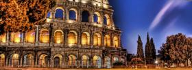 free night colosseum city facebook cover