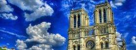 notre dame in paris city facebook cover