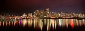 vancouver night city facebook cover