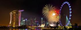 free singapore fireworks city facebook cover