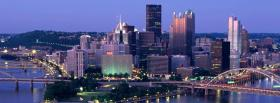 free night in pittsburgh city facebook cover