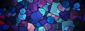 free blue purple cubes creative facebook cover