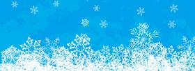 free snowflakes creative facebook cover