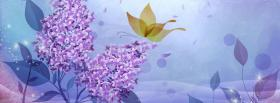 free lilac flowers creative facebook cover