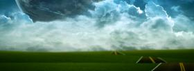 free street large clouds creative facebook cover
