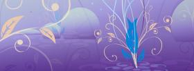 free purple and flowers creative facebook cover