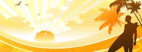 free yellow paradise creative facebook cover