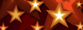 free golden stars creative facebook cover
