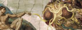 free flying spaghetti monster creative facebook cover