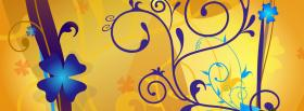 free blue little flowers creative facebook cover