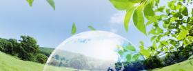 bubble in nature creative facebook cover