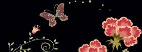free butterfly and flower creative facebook cover