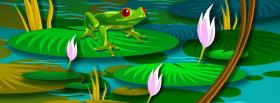 free frog nature creative facebook cover