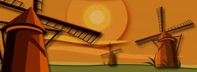 free wind mills creative facebook cover