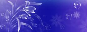 free flowers and bubbles creative facebook cover