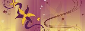free purple yellow flower creative facebook cover
